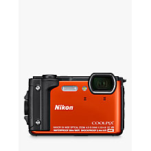 "Buy Nikon COOLPIX W300 GPS Waterproof, Freezeproof, Shockproof, Dustproof Digital Camera, 16MP, 4K UHD, 5x Optical Zoom, Bluetooth, 3"" LCD Screen, Orange Online at johnlewis.com"