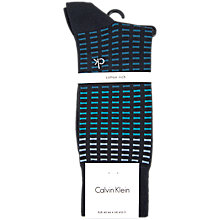 Buy Calvin Klein Tile Print Socks, One Size, Navy/Blue Online at johnlewis.com