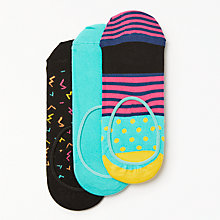 Buy Happy Socks Spots Shoe Liners, One Size, Pack of 3, Multi Online at johnlewis.com