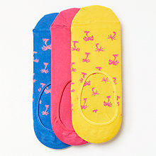 Buy Happy Socks Palm Tree Shoe Liners, One Size, Pack of 3, Yellow/Pink/Blue Online at johnlewis.com