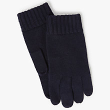 Buy Polo Ralph Lauren Merino Wool Gloves, One Size, Hunter Navy Online at johnlewis.com