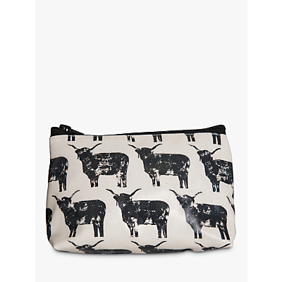 IzziRainey Highland Cow Oil Skin Make-Up Bag
