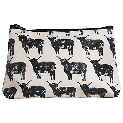 IzziRainey Highland Cow Oil Skin Wash Bag