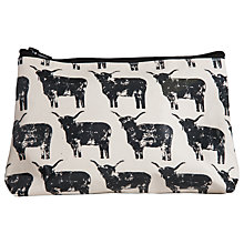 Buy IzziRainey Highland Cow Oil Skin Wash Bag Online at johnlewis.com
