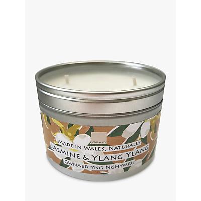 Cole & Co Jasmine &Ylang Ylang Candle Tin, 250g