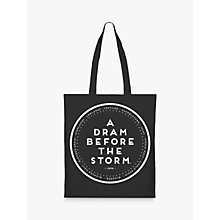 Buy Eat Haggis Dram Before The Storm Tote Bag, Black Online at johnlewis.com