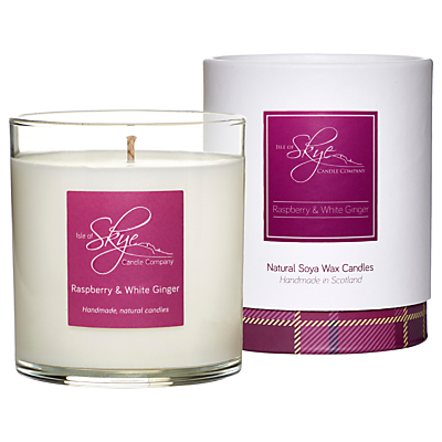 Isle of Skye Candle Company Raspberry & White Ginger Candle