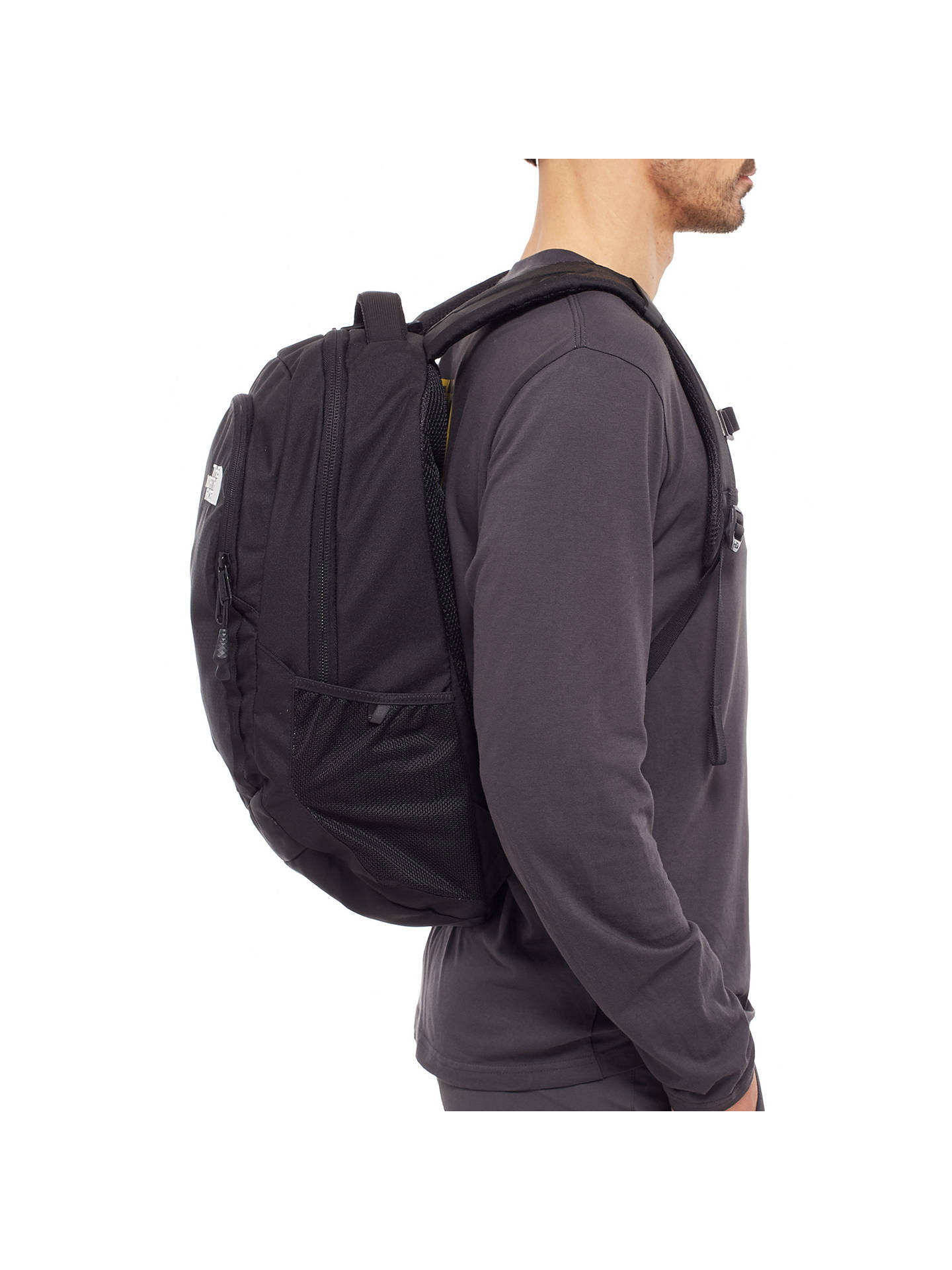 new product 6785f 11d3a The North Face Vault Backpack, Black at John Lewis & Partners