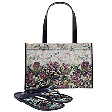 Buy Ted Baker Gelly Entangled Enchantment Shopper Bag and Flip Flop Set, Navy Online at johnlewis.com