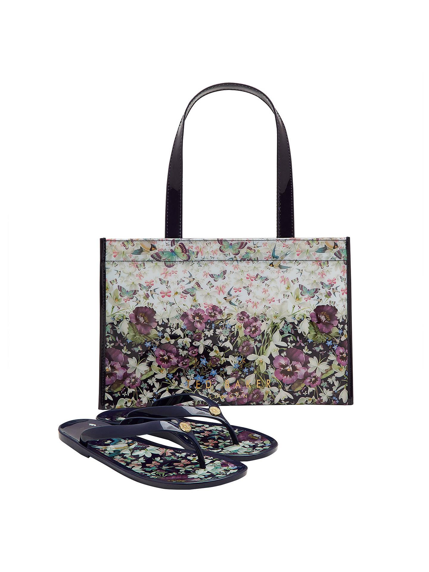 482b7c4313487 Ted Baker Gelly Entangled Enchantment Shopper Bag and Flip Flop Set ...