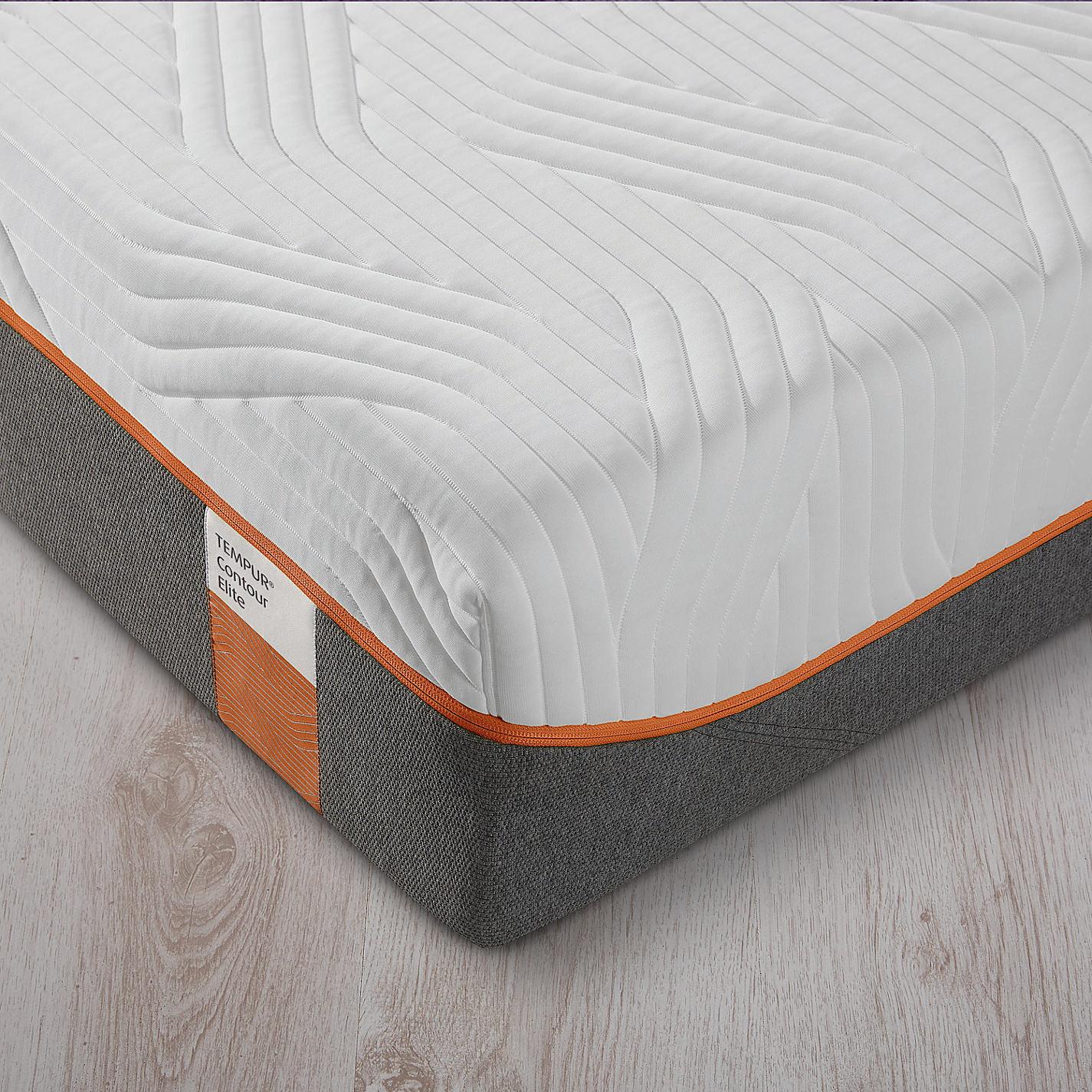 Tempur Contour Elite 25 Memory Foam Mattress Firm King Size Online At Johnlewis
