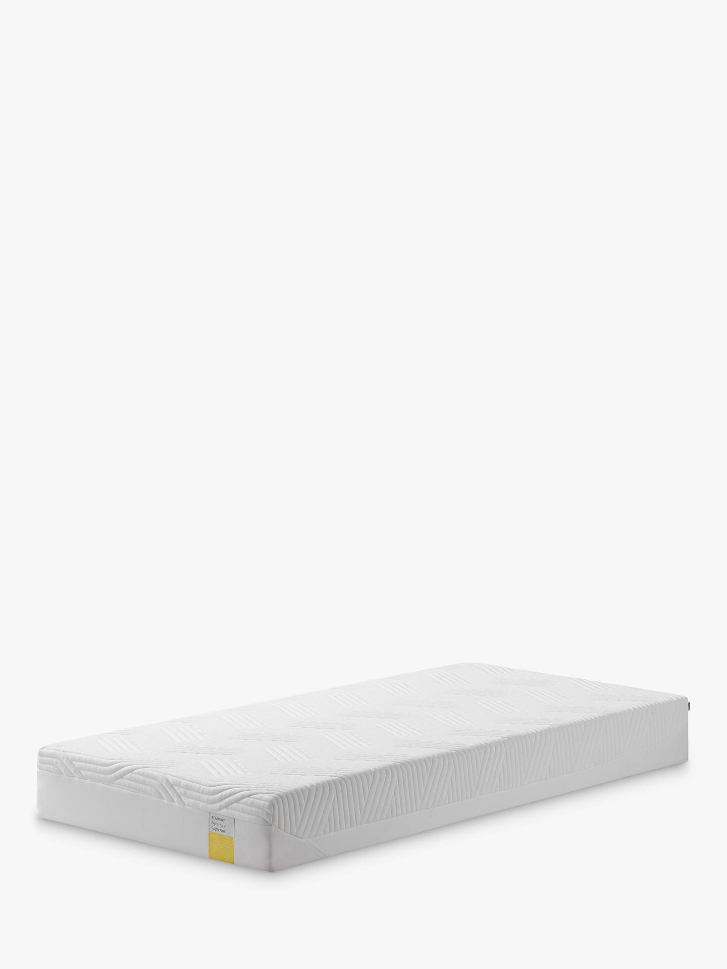Buy Tempur Sensation Supreme 21 Memory Foam Mattress, Firm Tension, Extra Long Single Online at johnlewis.com