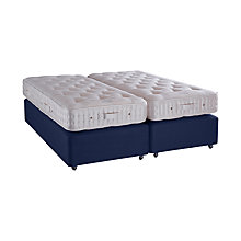 Buy Vispring Plymouth Superb Zip Link Divan Base and Mattress Set, FSC-Certified (Spruce, Redwood, Beech), Medium, Super King Size Online at johnlewis.com