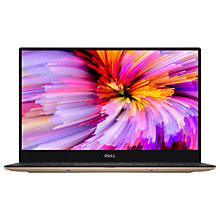 "Buy Dell XPS 13 Laptop, Intel Core i7, 8GB RAM, 256GB SSD, 13.3"" QHD+, Rose Gold Online at johnlewis.com"