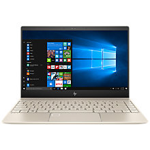 Buy HP ENVY 13-ad014na Laptop, Intel Core i7, 8GB RAM, 360GB SSD, NVIDIA GeForce MX150, 13.3 Full HD Touch Screen, Silk Gold Online at johnlewis.com