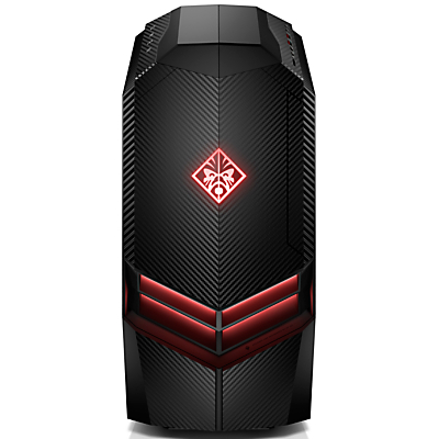 HP OMEN 880-021na Desktop PC, AMD Ryzen 7, 8GB, 2TB HDD + 256GB M.2 SSD, Radeon RX 580, Black