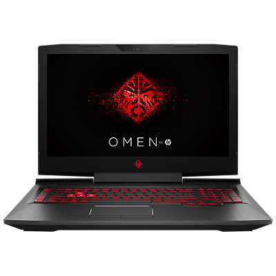 "Image of HP OMEN 17-an013na Laptop, Intel Core i7, 8GB, 1TB, NVIDIA GeForce GTX 1060, 17.3"", Shadow Black"