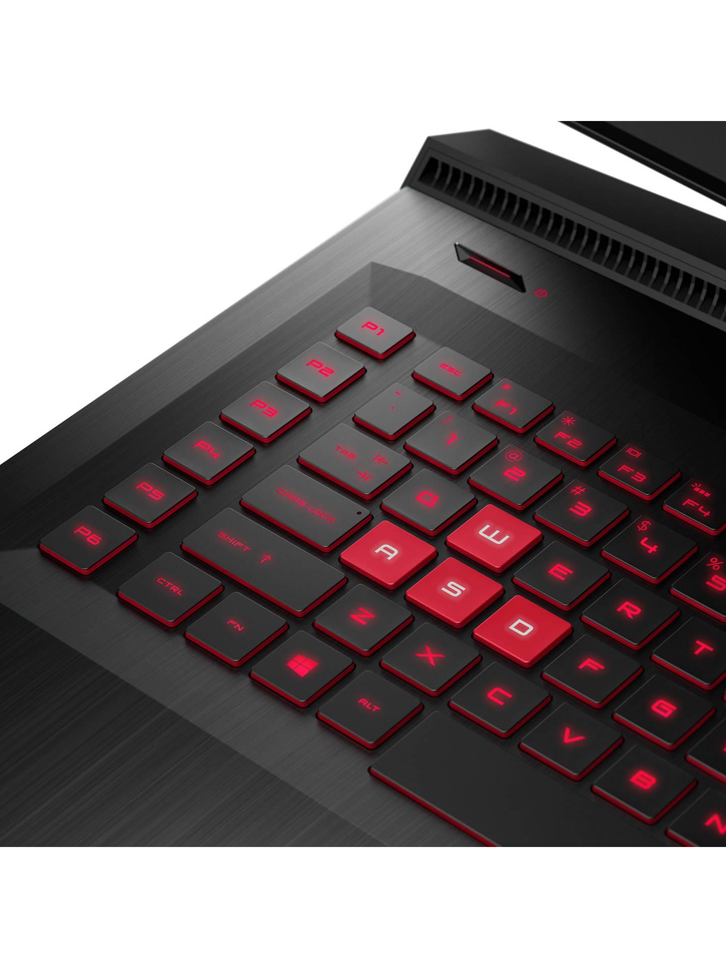 "HP OMEN 17-an013na Laptop, Intel Core i7, 8GB, 1TB, NVIDIA GeForce GTX  1060, 17 3"", Shadow Black"