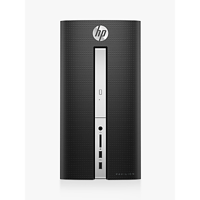 HP Pavilion 570-a100na Tower PC, AMD A9, 8GB, 1TB HDD, Twinkle Black