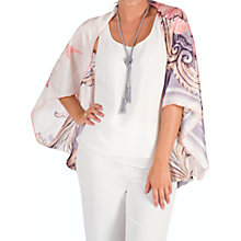 Buy Chesca Silk Printed Wrap, Peach/Lilac Online at johnlewis.com