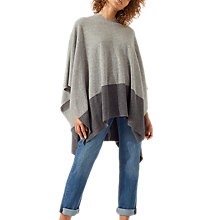 Buy Jigsaw Hooded Two Tone Poncho Online at johnlewis.com