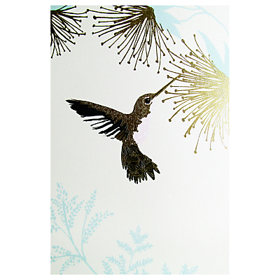 Paperlink Hummingbird Greeting Card