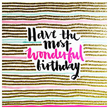 Buy Rachel Ellen Wonderful Birthday Card Online at johnlewis.com
