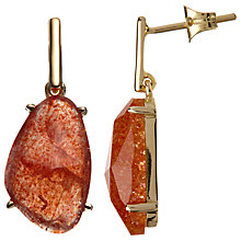 Buy John Lewis Gemstones Drop Earrings, Sunstone Online at johnlewis.com