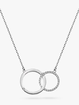 Hot Diamonds Bliss Interlocked Circle Necklace, Silver