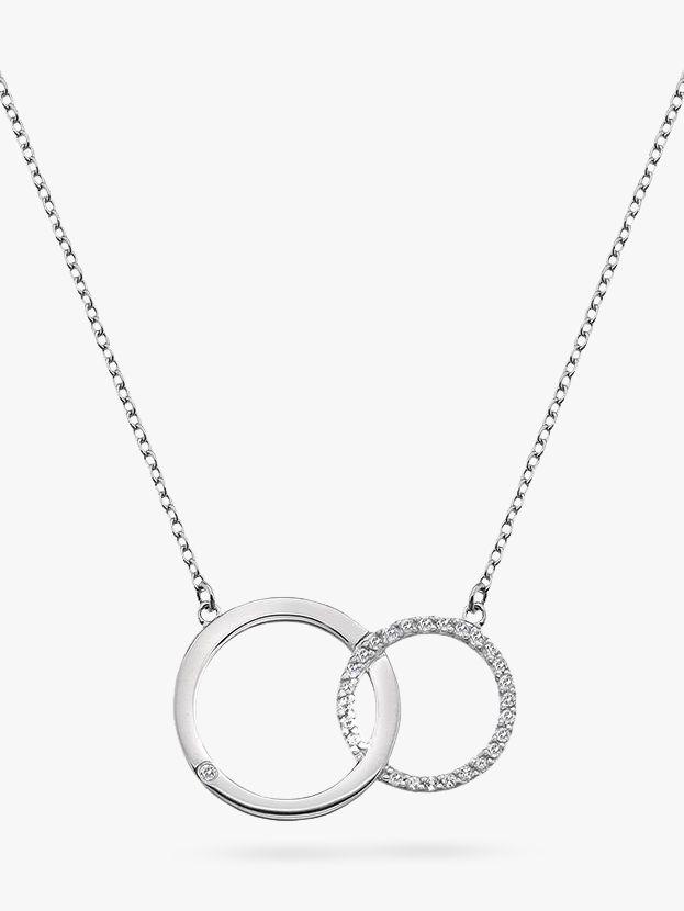 Hot Diamonds Hot Diamonds Bliss Interlocked Circle Necklace, Silver