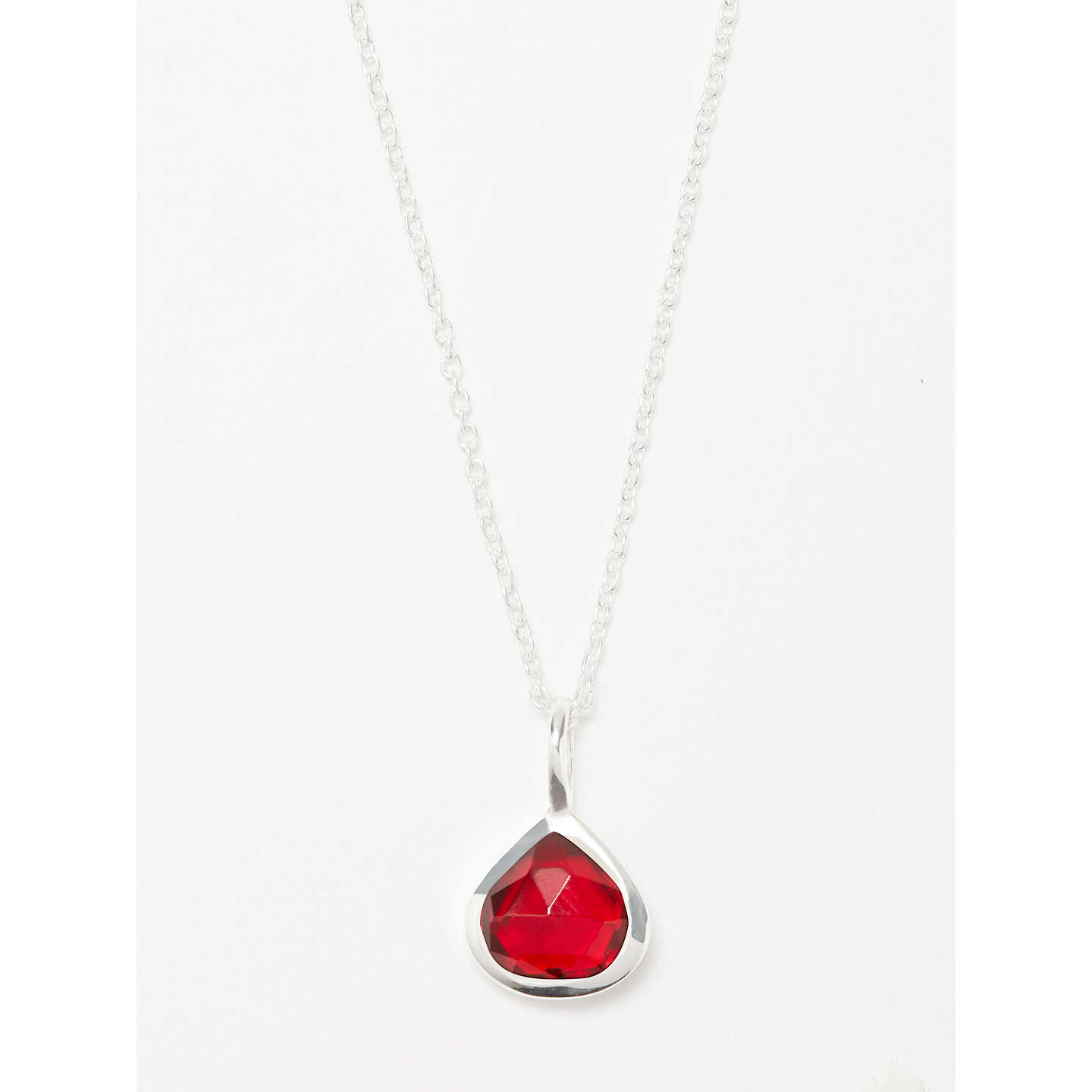John lewis semi precious stone birthstone pendant necklace at john lewis buyjohn lewis semi precious stone birthstone pendant necklace january pink garnet online at johnlewis aloadofball Images