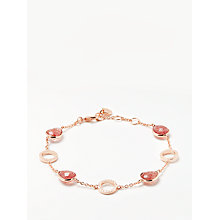 Buy John Lewis Gemstones Circle Chain Bracelet, Rose Gold/Quartz Online at johnlewis.com