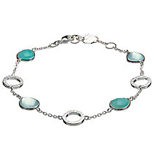 Buy John Lewis Gemstones Circle Aqua Amazonite Bracelet, Silver Online at johnlewis.com