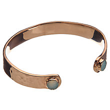 Buy John Lewis Gemstones Small Aqua Druzy Cuff, Rose Gold Online at johnlewis.com