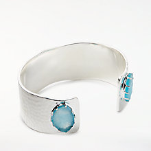 Buy John Lewis Gemstones Druzy Wide Cuff Bracelet, Silver Online at johnlewis.com