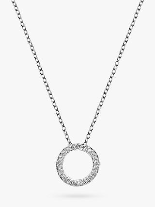 Hot Diamonds Bliss Circle Pendant Necklace, Silver