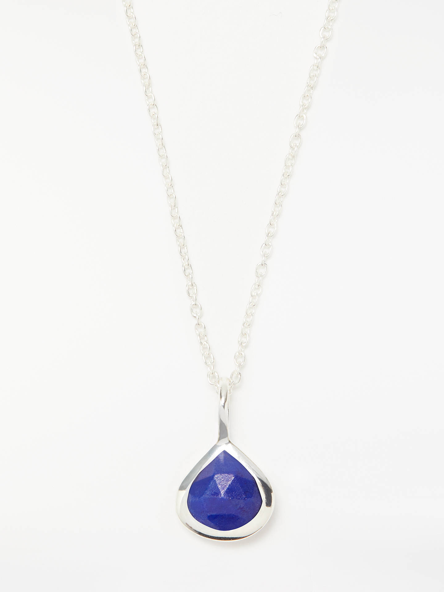 BuyJohn Lewis & Partners Semi-Precious Stone Birthstone Pendant Necklace, September Lapis Online at johnlewis.com