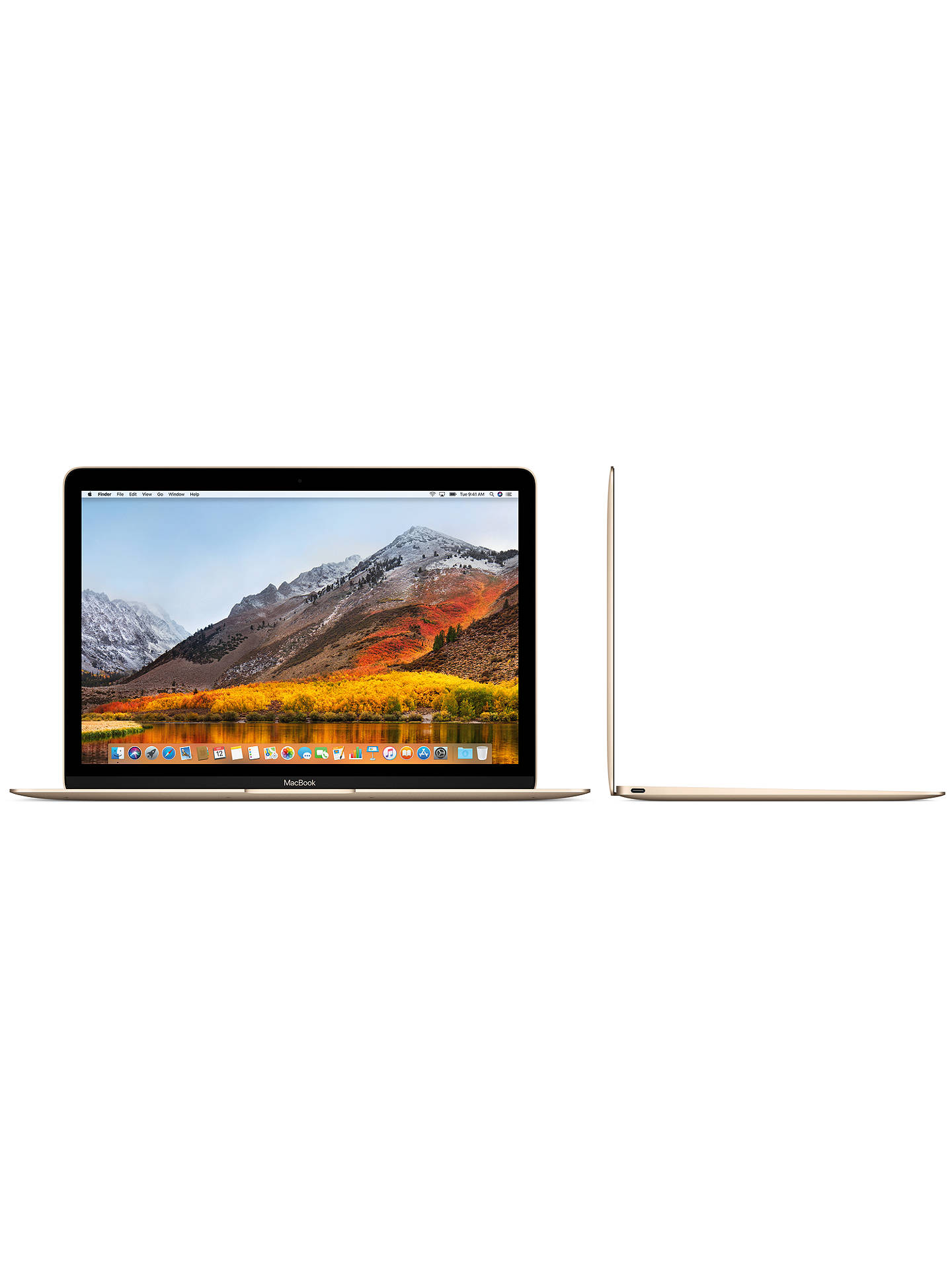 "Buy2017 Apple MacBook 12"", Intel Core m3, 8GB RAM, 256GB SSD, Intel HD Graphics 615, Gold Online at johnlewis.com"