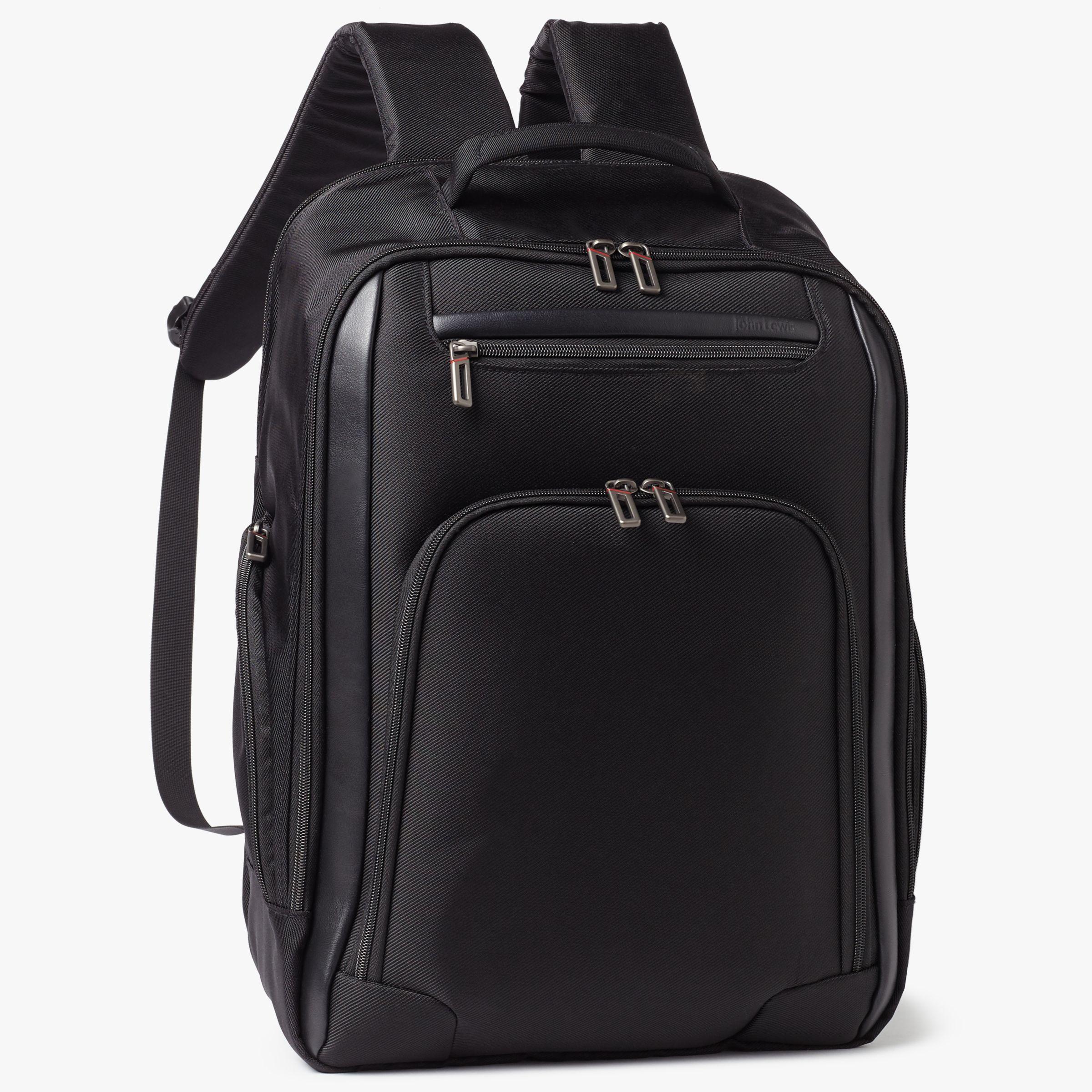 bcdfd97613f4 John Lewis & Partners Raise Expandable 17inch Laptop Backpack, Black