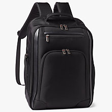 Buy John Lewis Raise Expandable 17inch Laptop Backpack, Black Online at johnlewis.com
