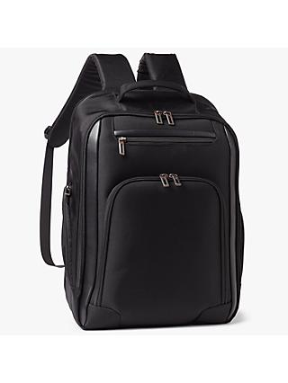 John Lewis & Partners Raise Expandable 17inch Laptop Backpack, Black