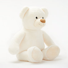 "Buy John Lewis 30"" Bear Plush Soft Toy, Cream Online at johnlewis.com"