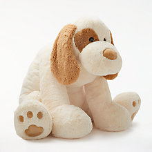 "Buy John Lewis 47"" Dog Plush Soft Toy, Cream Online at johnlewis.com"