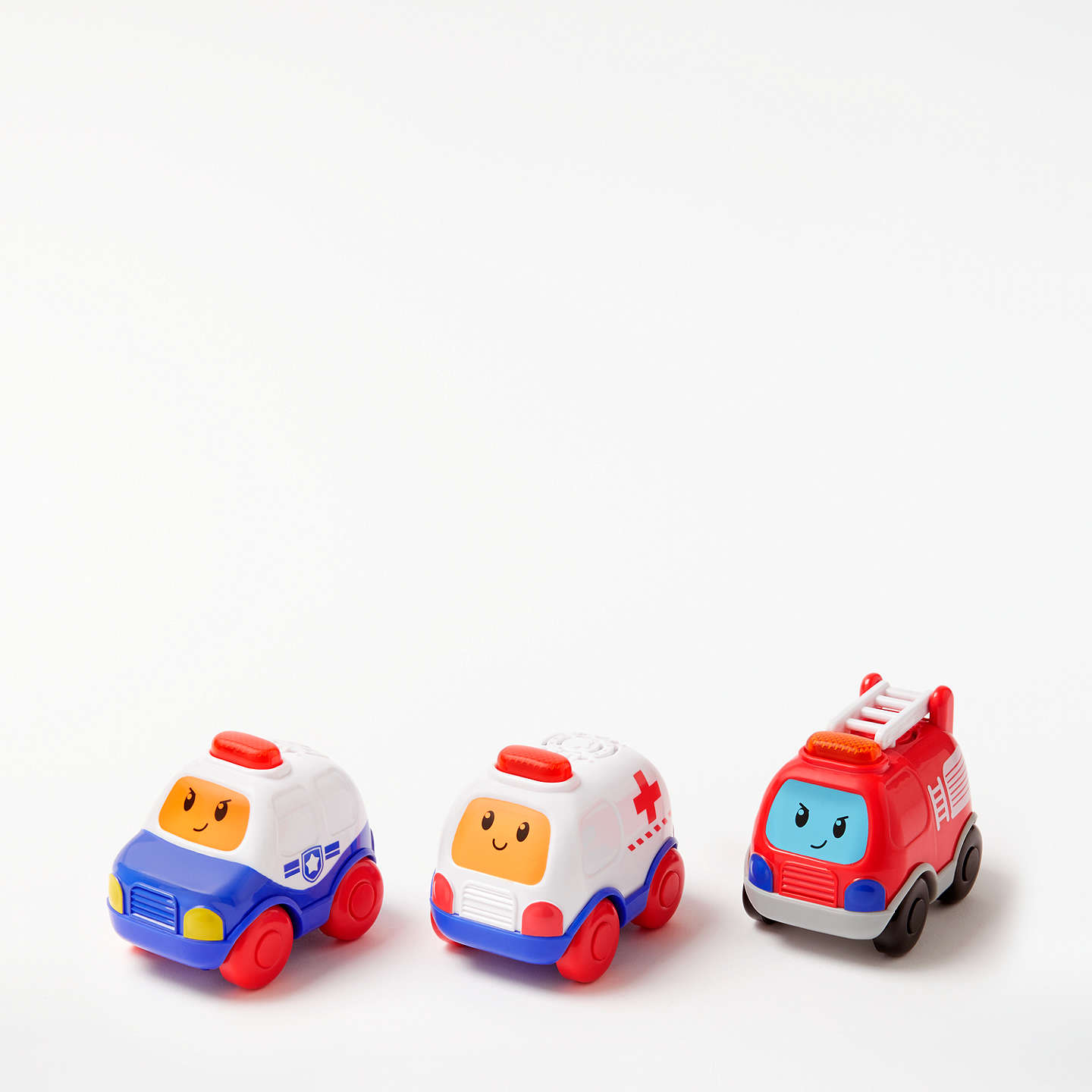 BuyJohn Lewis Emergency Vehicle Toy Cars, Pack of 3 Online at johnlewis.com