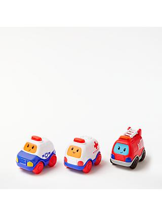 John Lewis & Partners Emergency Vehicle Toy Cars, Pack of 3