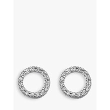 Buy Hot Diamonds Bliss 0.005ct Diamond And Topaz Circle Stud Earrings, Silver/Clear Online at johnlewis.com