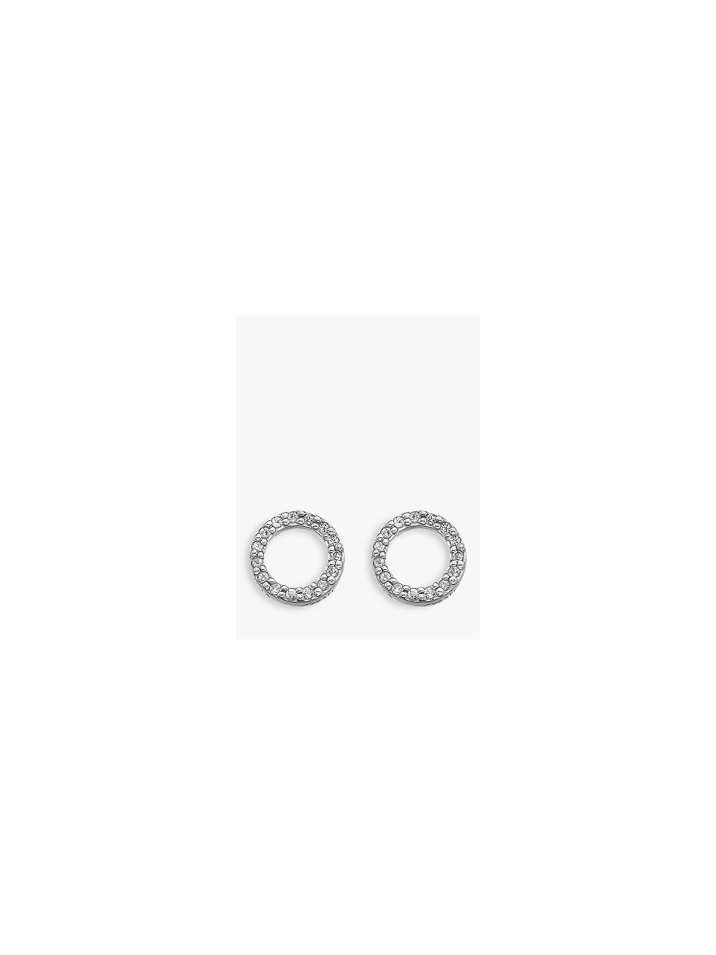 BuyHot Diamonds Bliss 0.005ct Diamond And Topaz Circle Stud Earrings, Silver/Clear Online at johnlewis.com