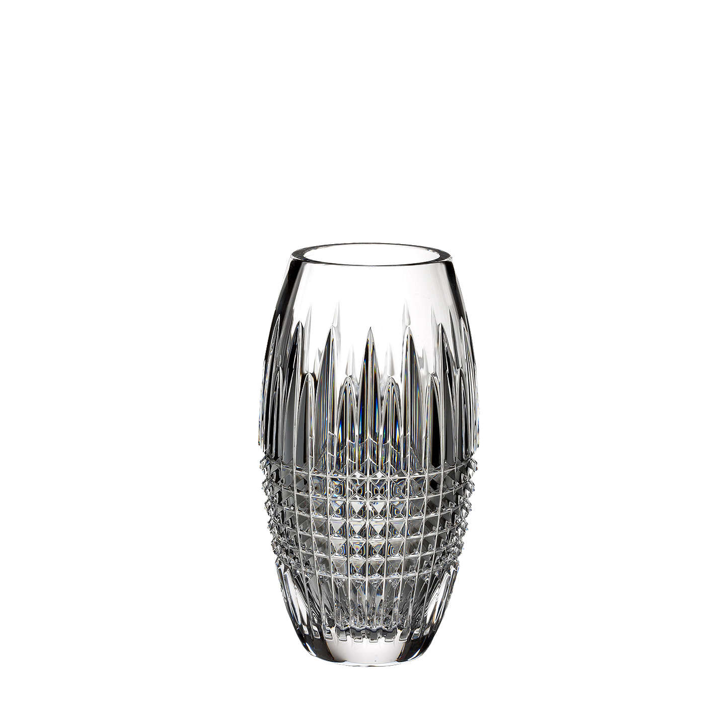 "BuyWaterford Lismore Diamond Encore Crystal Vase, 8"" Online at johnlewis.com"