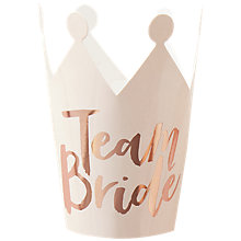 Buy Ginger Ray Team Bride Foiled Crowns, Pack of 5 Online at johnlewis.com