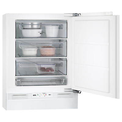 AEG ABE68221AF Built-Under Freezer, A++ Energy Rating, 60cm Wide, White